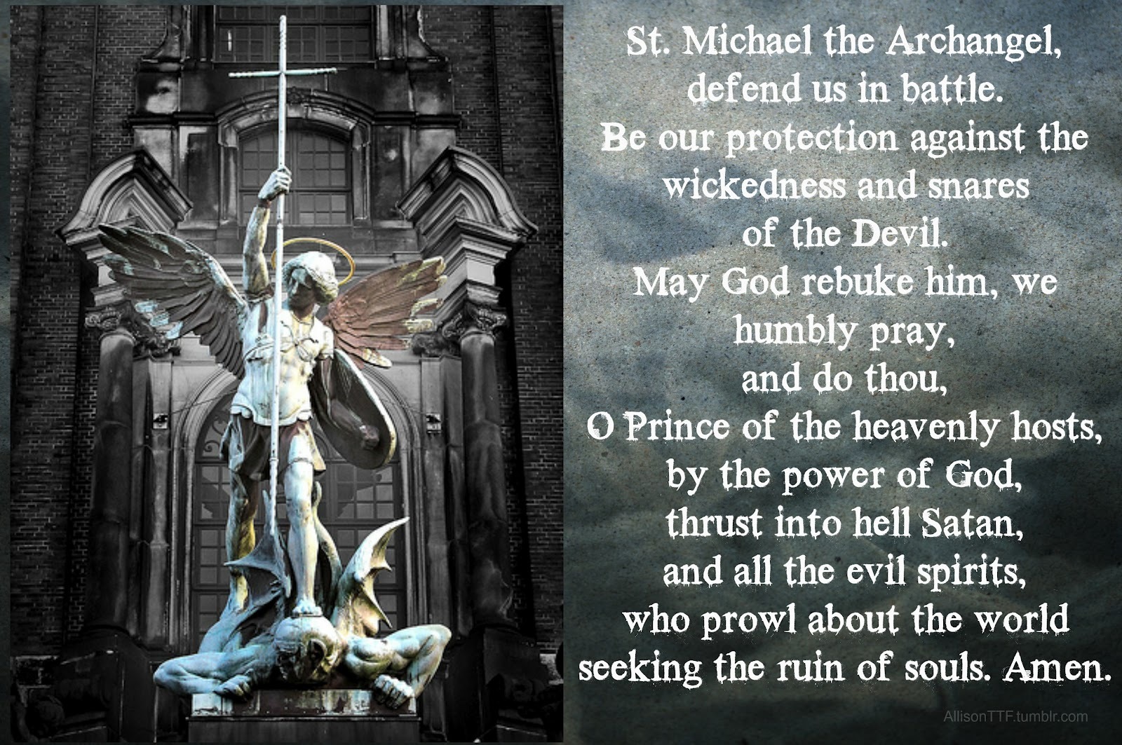 Happy feast day of st michael the archangel catholic photo credit allison ttf tumblr biocorpaavc Images