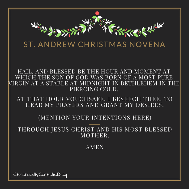 St. Andrew Christmas Novena – Catholic & Chronically Awesome